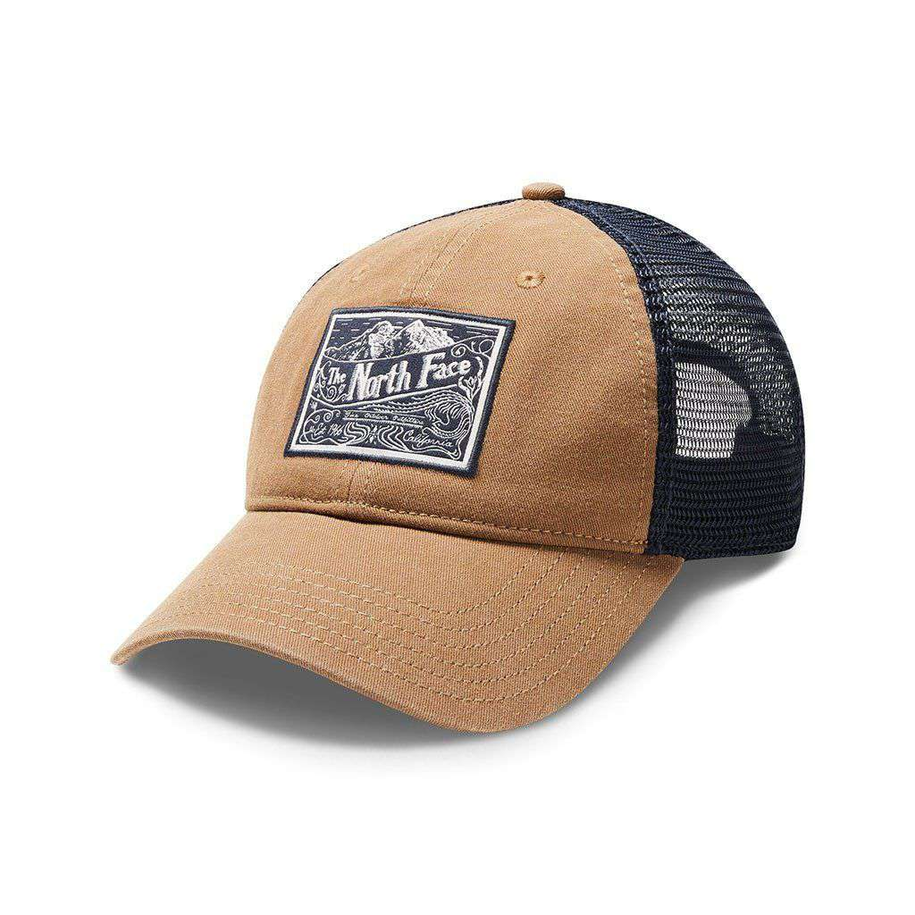 The North Face Broken In Trucker Hat in Cargo Khaki & Urban Navy