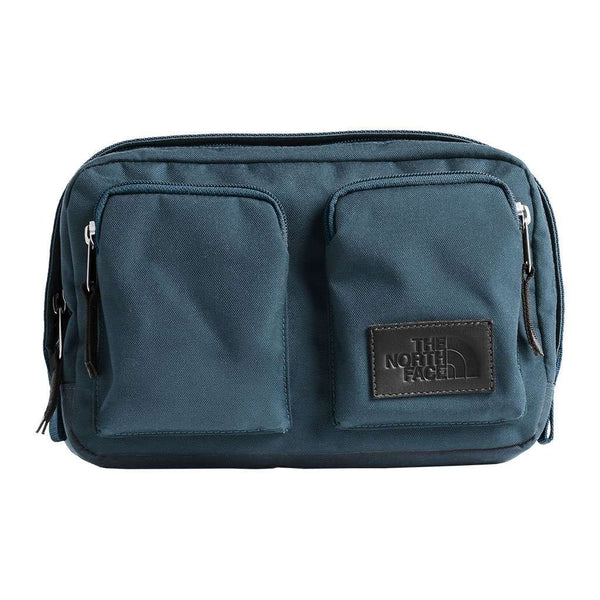 The North Face Kanga Fannypack in Blue Wing Teal Heather & Asphalt Grey