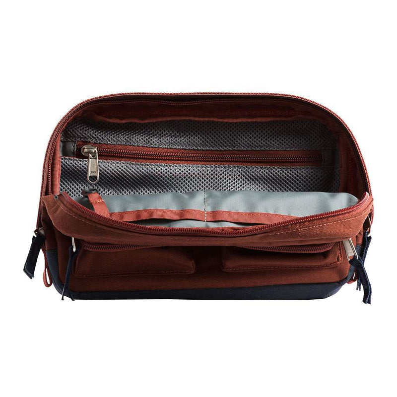 The North Face Kanga Fannypack in Henna Heather & Urban Navy