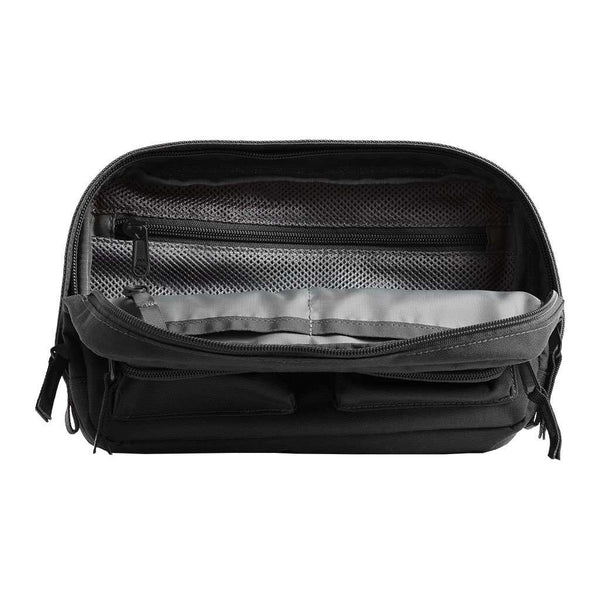 The North Face Kanga Fannypack in Asphalt Grey Heather & TNF Black