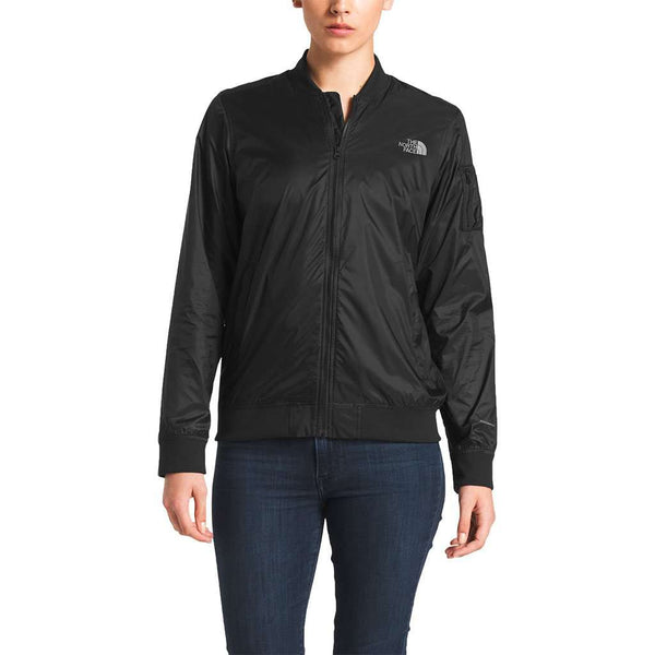 57b878093 Women's Meaford Bomber in Shiny TNF Black by The North Face - FINAL SALE