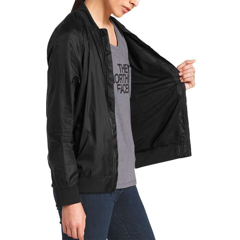 Women's Meaford Bomber in Shiny TNF Black by The North Face