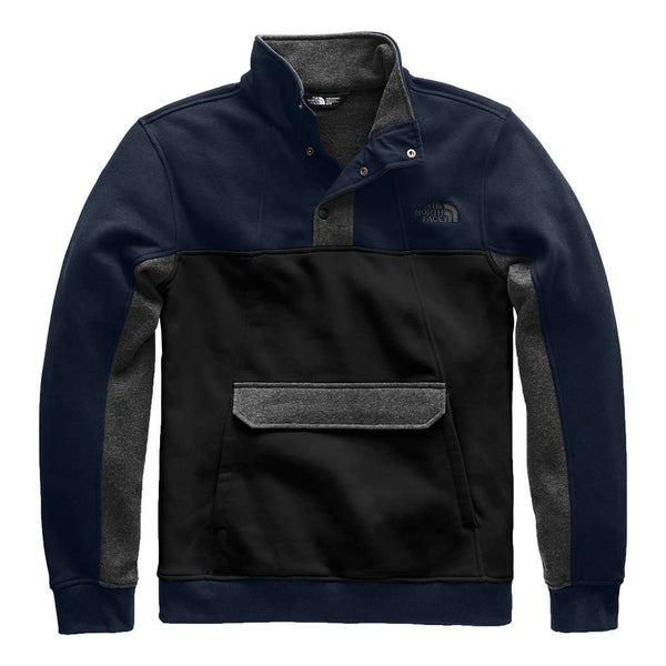 The North Face Men's Alphabet City Fleece Pullover in Urban Navy TNF Black & TNF Dark Heather Grey