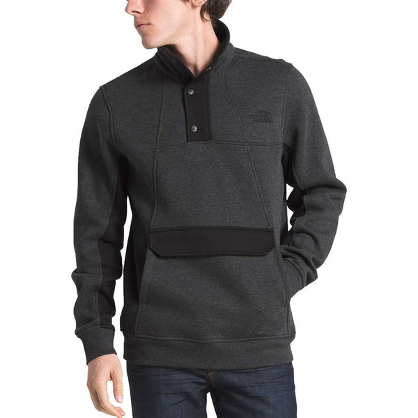 The North Face Men's Alphabet City Fleece Pullover in TNF Dark Grey Heather
