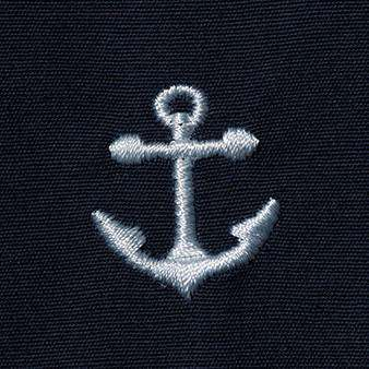 Sailing Short in Nantucket Navy with Embroidered Anchor by Castaway Clothing - FINAL SALE