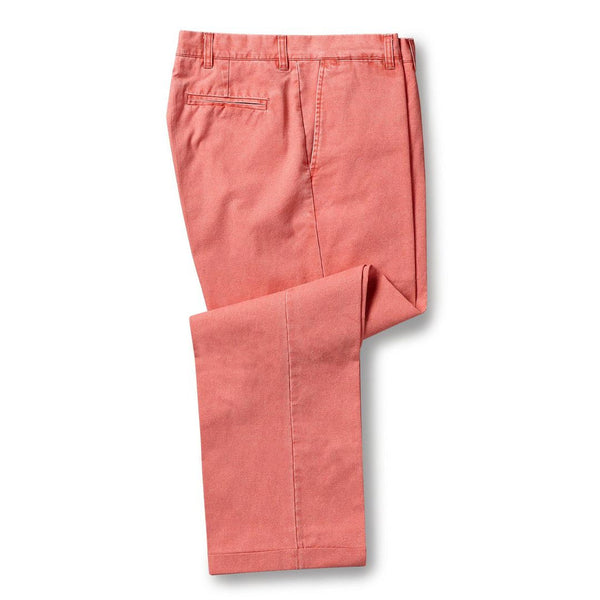 Plain Front Pants in Faded Red by Country Club Prep