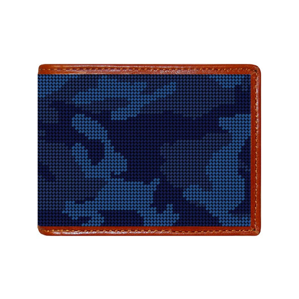 Navy Camo Needlepoint Wallet by Smathers & Branson