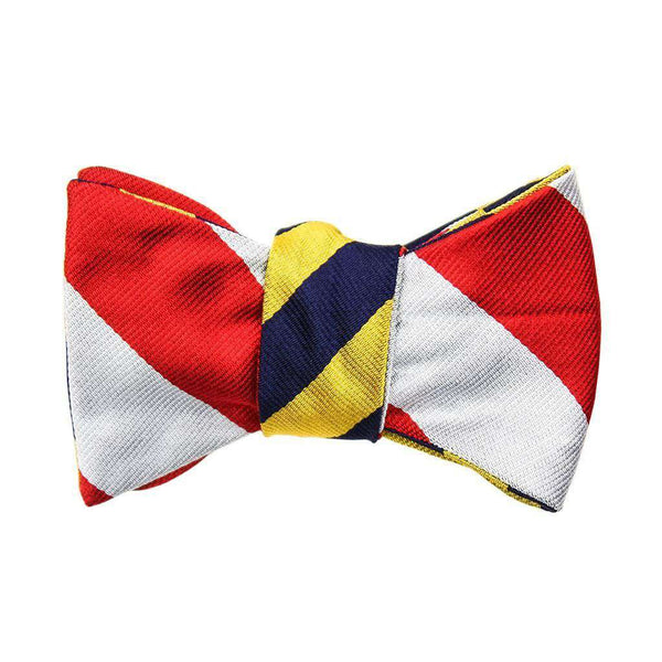 Gold/Navy and Red/Silver Bow Tie by Social Primer  - 1
