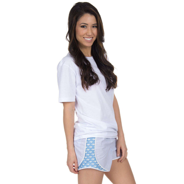 North Carolina Seersucker Shorties in Light Blue by Lauren James  - 1