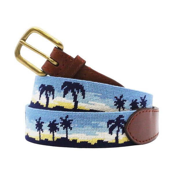 Oasis Needlepoint Belt by Smathers & Branson