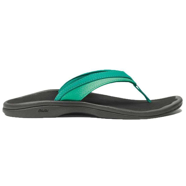 Women's 'Ohana Sandal in Mermaid Green & Black by Olukai  - 1