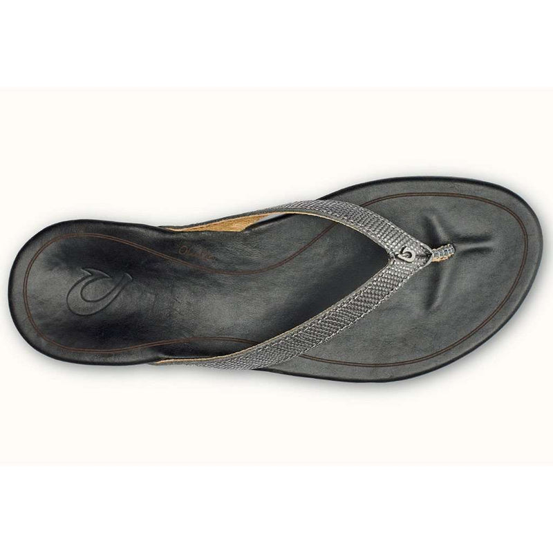 Women's Hi'Ona Sandal in Pewter & Black by Olukai - FINAL SALE