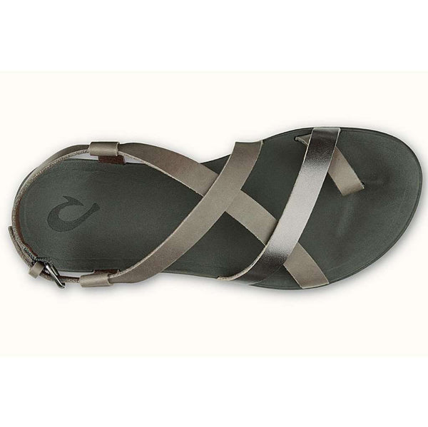 Olukai Women's 'Upena Sandal in Charcoal & Pewter