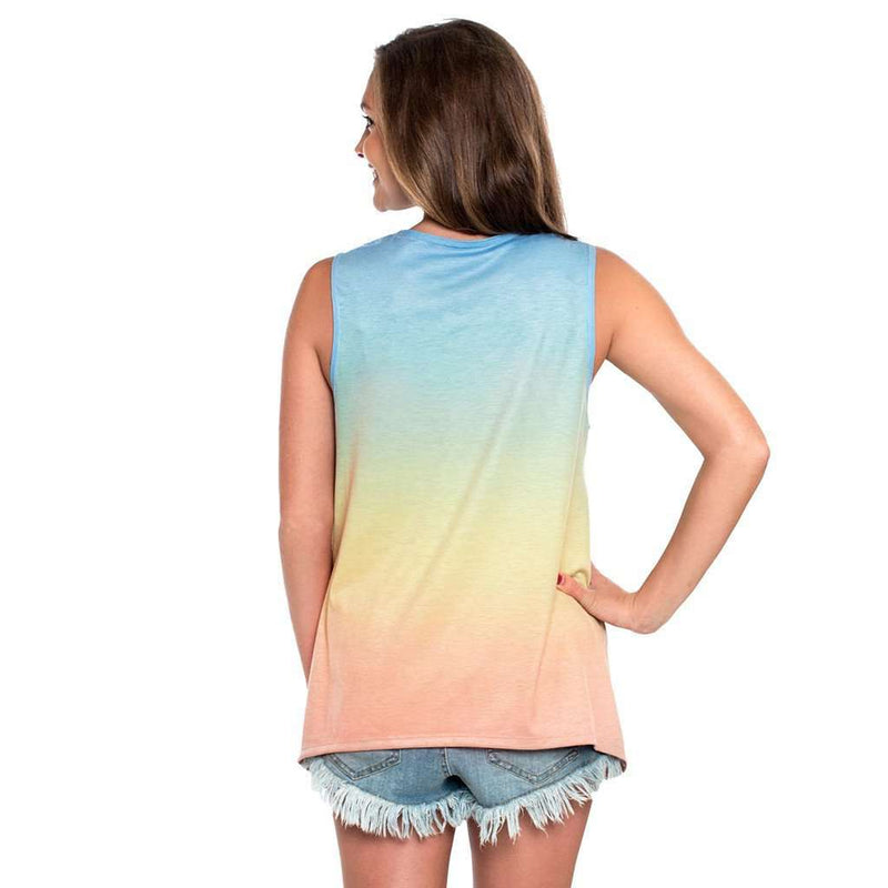 The Southern Shirt Co. Ombre Swing Tank in Sunset by The Southern Shirt Co.