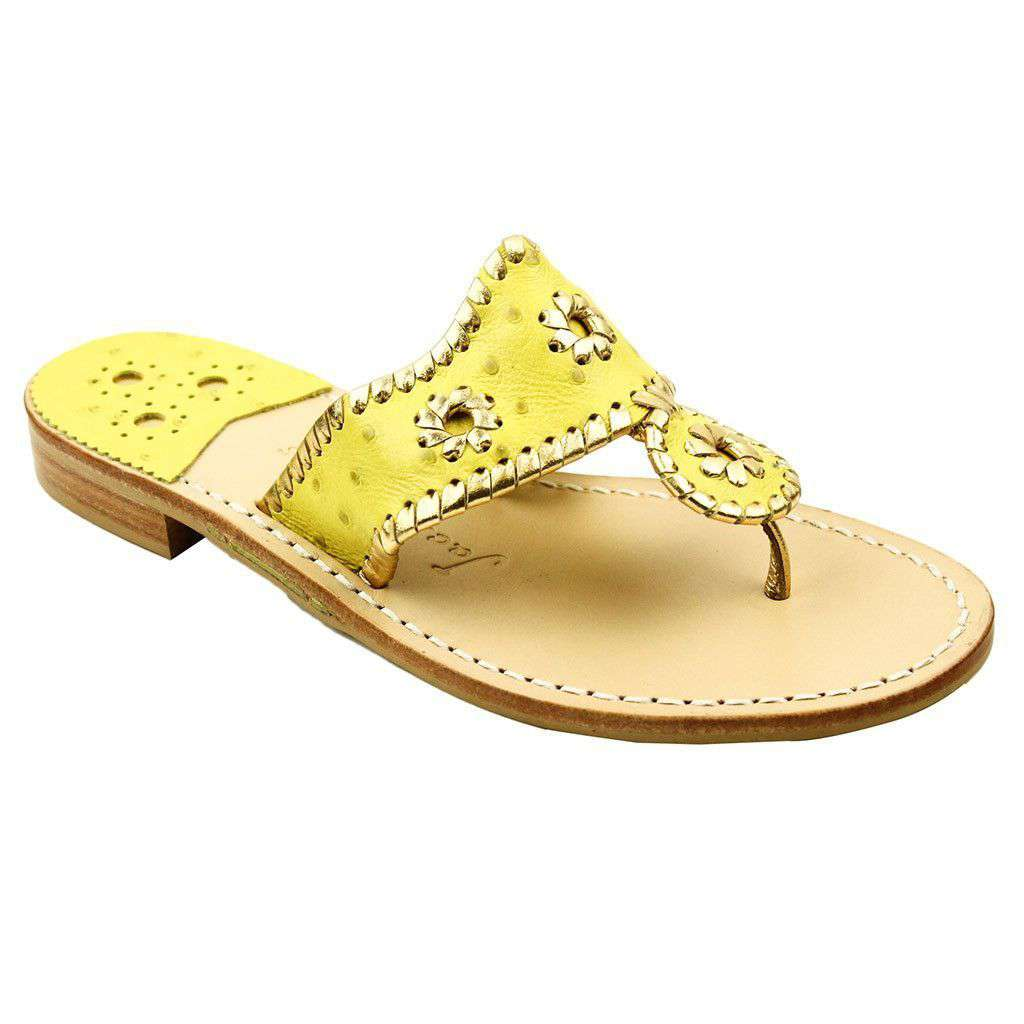 Exclusive Ostrich in Yellow and Gold Navajo Sandals by Jack Rogers  - 1