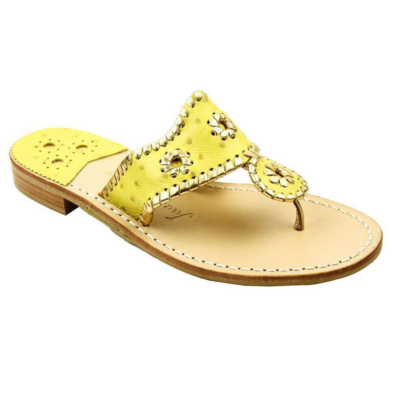a8aeffd612c Exclusive Ostrich in Yellow and Gold Navajo Sandals by Jack Rogers - FINAL  SALE