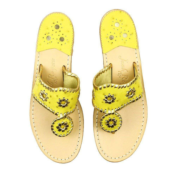 Exclusive Ostrich in Yellow and Gold Navajo Sandals by Jack Rogers-2