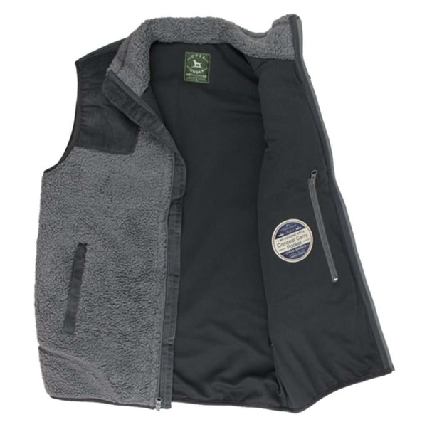 Over Under Clothing King's Canyon Vest in Charcoal