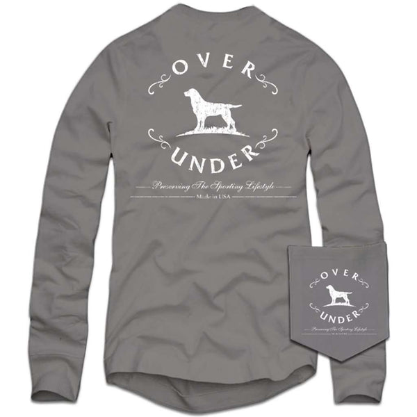 Over Under Clothing Long Sleeve Antique Logo T-Shirt in Grey