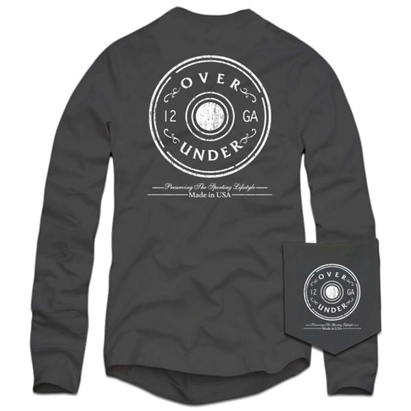 Over Under Clothing Long Sleeve Antique Shot Shell T-Shirt in Charcoal