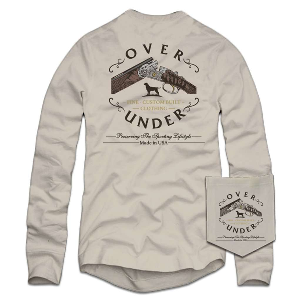 Over Under Clothing Long Sleeve Custom Built T Shirt In Oyster