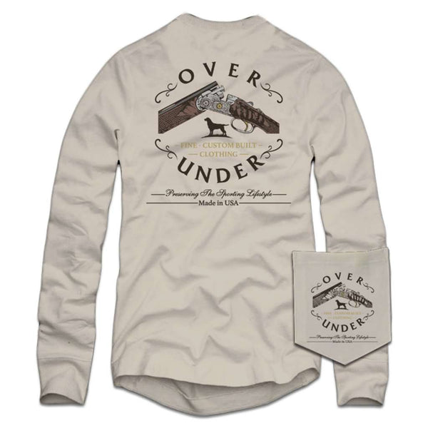 Over Under Clothing Long Sleeve Custom Built T-Shirt in Oyster