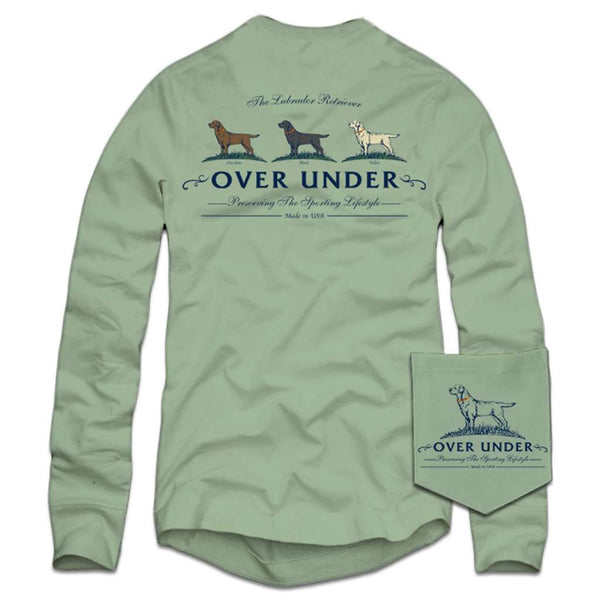 Over Under Clothing Long Sleeve Lab Trio T-Shirt in Green Tea