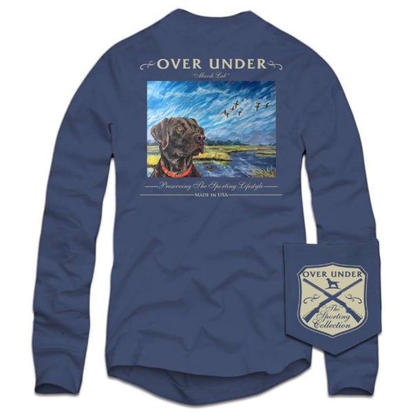 Over Under Clothing Long Sleeve Marsh Lab T-Shirt in Navy