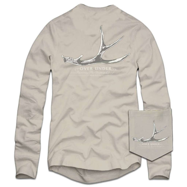 Over Under Clothing Long Sleeve Shed Hunter T-Shirt in Oyster
