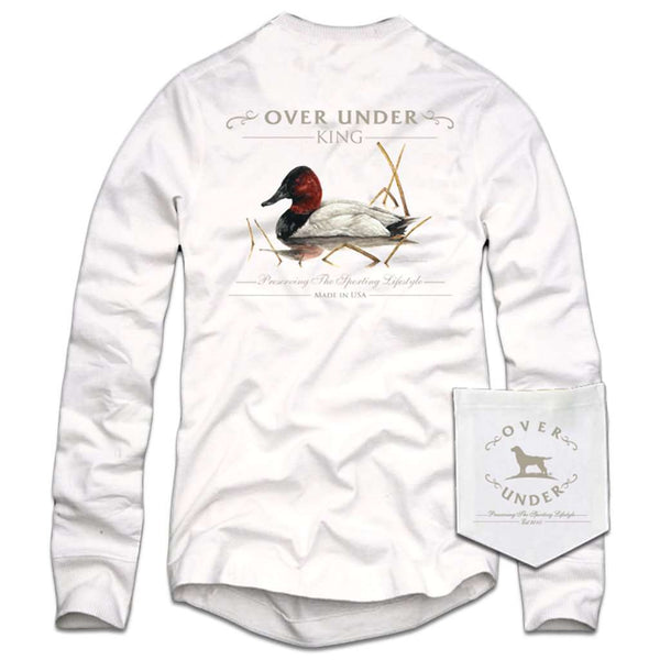 Over Under Clothing Long Sleeve The King T-Shirt in White