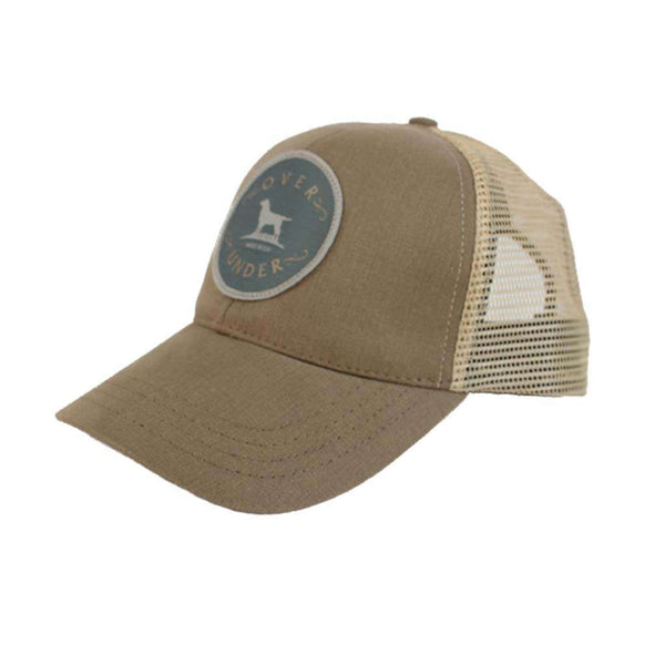 Over Under Clothing Original Patch Mesh Back Hat in Khaki by Over Under Clothing