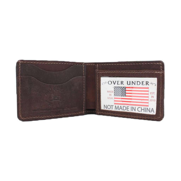 Over Under Clothing The Waxed Canvas Bifold Wallet in Olive