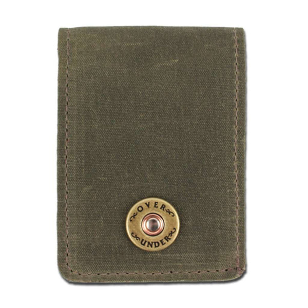 The Waxed Canvas Bifold Wallet in Olive by Over Under Clothing