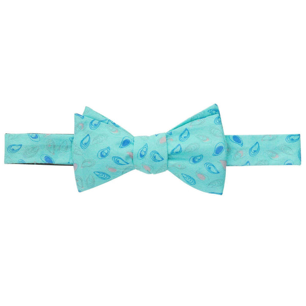 Blueprint Oyster Bow Tie in Hushed Green by Southern Proper