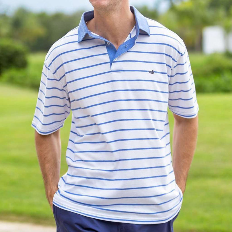 Southern Marsh Marina Bay Stripe Polo by Southern Marsh