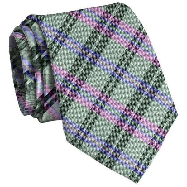 Paddock Plaid Neck Tie in Lime by Bird Dog Bay