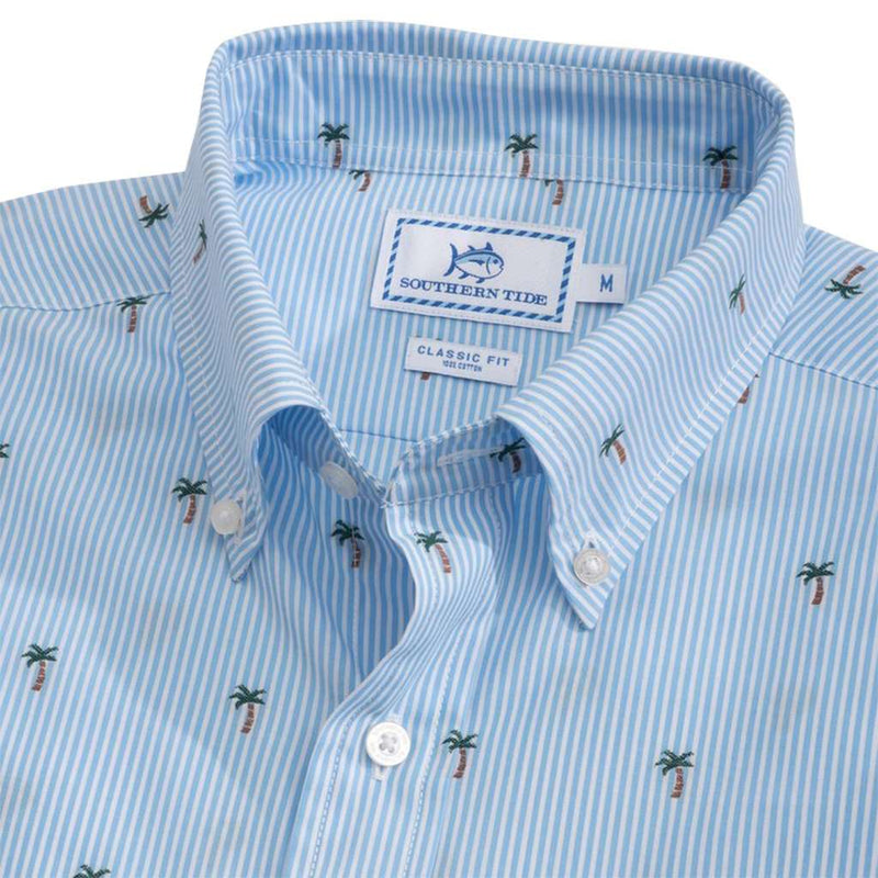 Palm Tree Short Sleeve Sport Shirt by Southern Tide - FINAL SALE
