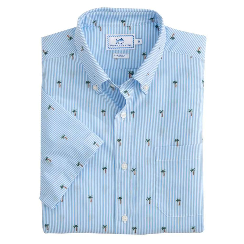 Palm Tree Short Sleeve Sport Shirt by Southern Tide