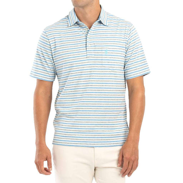 Palmetto Striped Polo in Breaker by Johnnie-O