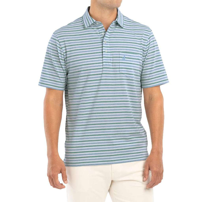 Palmetto Striped Polo in Kiwi by Johnnie-O