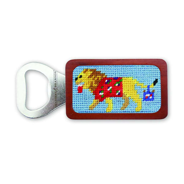Party Animal Needlepoint Bottle Opener in Light Blue by Smathers & Branson