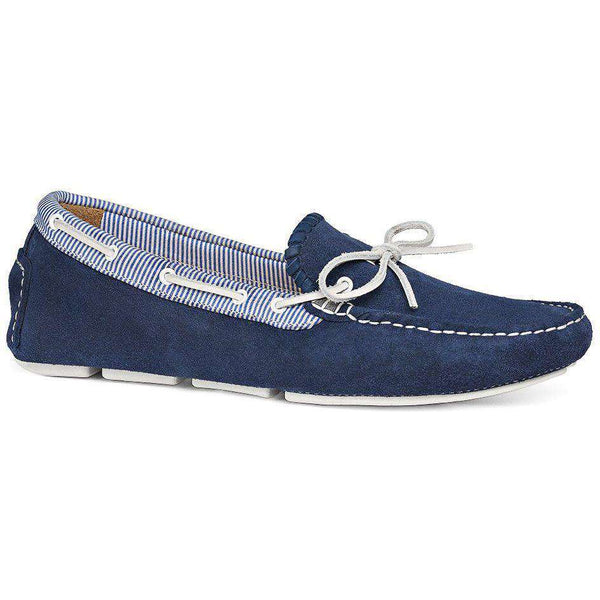 Paxton Suede Driving Loafer in Blue by Jack Rogers