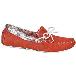Paxton Suede Driving Loafer in Red by Jack Rogers