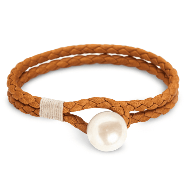 Kiel James Patrick Pearl Knot Tan Bracelet by Kiel James Patrick