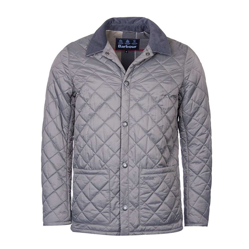 Barbour Pembroke Quilted Jacket In Grey Country Club Prep