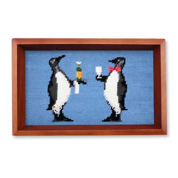 Penguin Needlepoint Valet Tray by Smathers & Branson