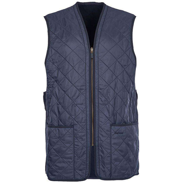 Polarquilt Waistcoat Zip-in Liner in Navy by Barbour  - 1