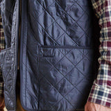 Polarquilt Waistcoat Zip-in Liner in Navy by Barbour  - 4