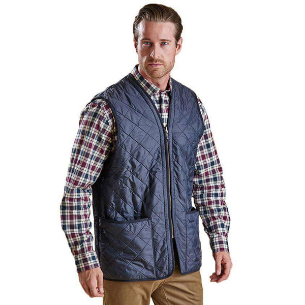 Polarquilt Waistcoat Zip-in Liner in Navy by Barbour  - 2