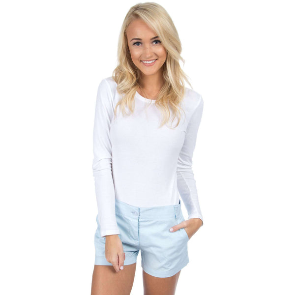 Poplin Short in Light Blue by Lauren James  - 1